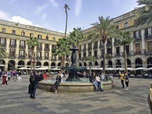 La Plaça Reial, Gothic Quarter, Barcelona
