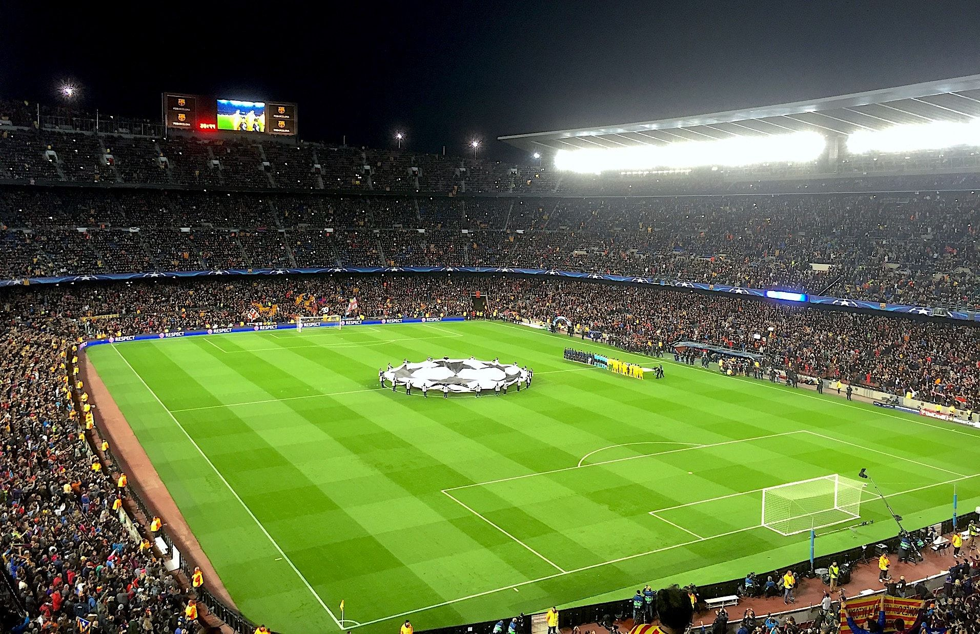 The Champions League in Barcelona