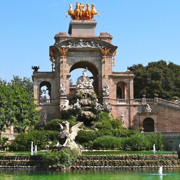 El hermoso parque de la Ciutadella en Barcelona