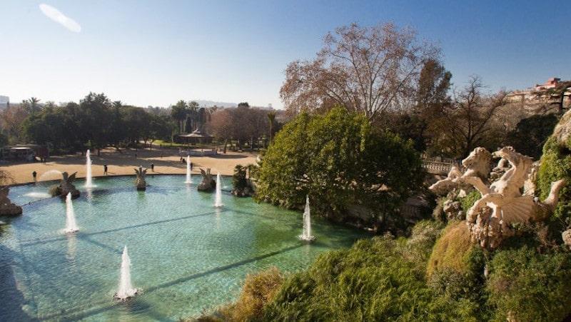 Fuentes en el parque de la Ciutadella de Barcelona