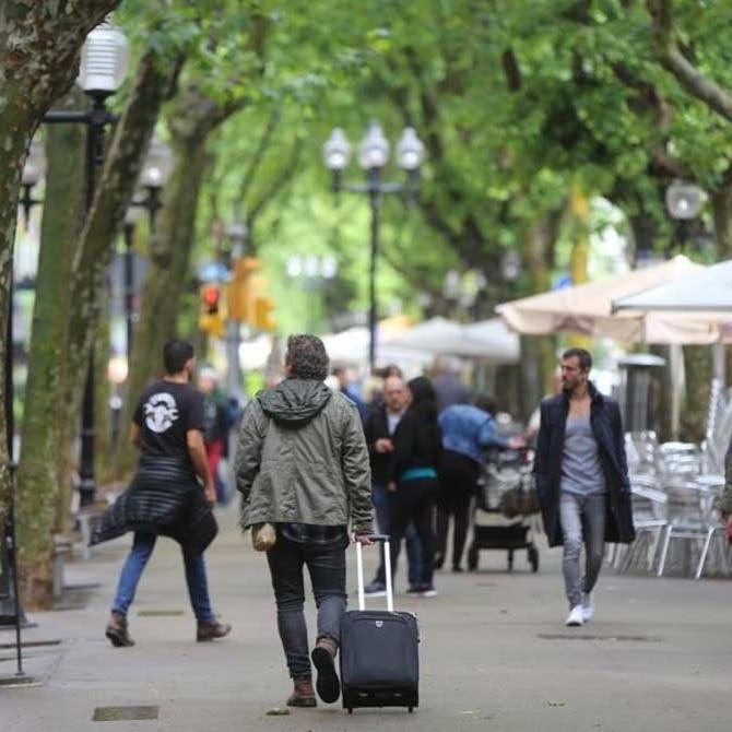 The Rambla del Poblenou in Barcelona