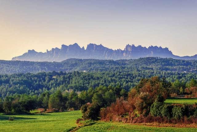 Autumn landscape Montserrat Barcelona